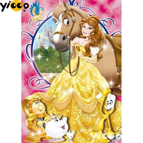 5D Diamond Painting Belle and Her Horse Kit
