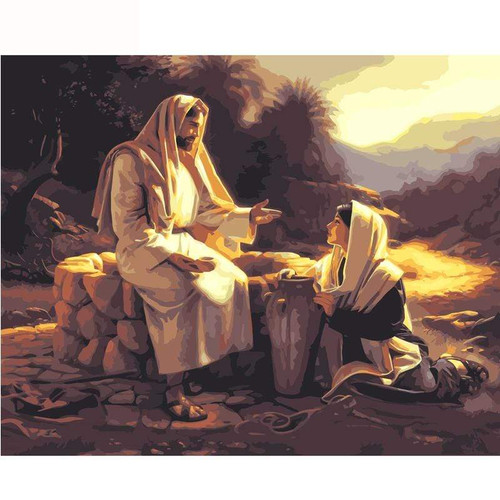 5D Diamond Painting Jesus Teaching at the Well Kit