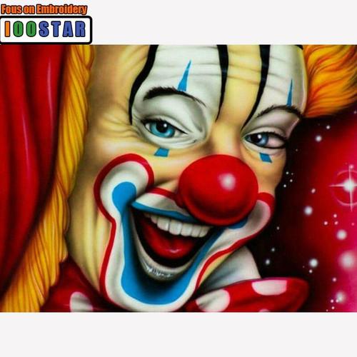 5D Diamond Painting Smiling Clown Kit