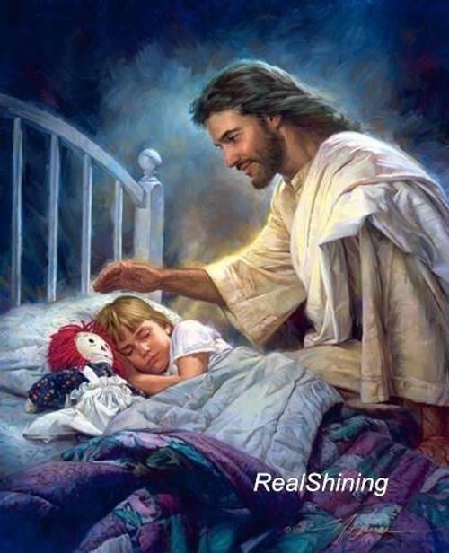 5D Diamond Painting Jesus & A Little Girl Sleeping Kit