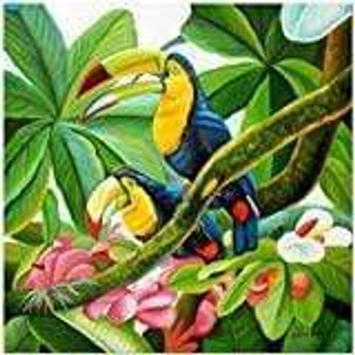 5D Diamond Painting Two Toucans on a Branch Kit