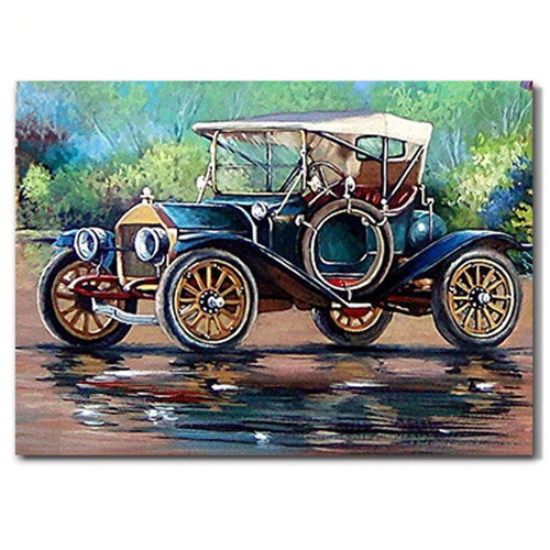 5D Diamond Painting Old Fashioned Car Kit