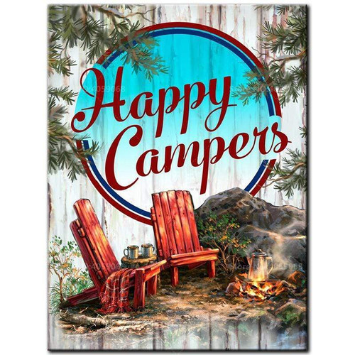 5D Diamond Painting Happy Campers Kit