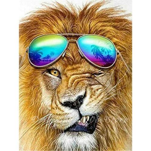 5D Diamond Painting Winking Lion Kit