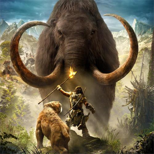 5D Diamond Painting Mammoth and Man Kit