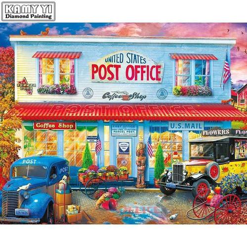 5D Diamond Painting Post Office Kit