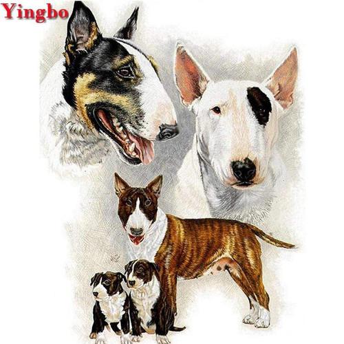 5D Diamond Painting Bull Terrier Collage Kit