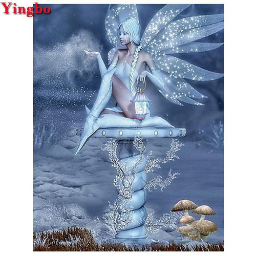 5D Diamond Painting Sparkle Wing Fairy Kit