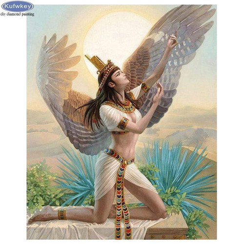 5D Diamond Painting Egyptian Angel Kit