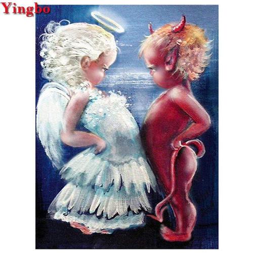 5D Diamond Painting Little Angel & Demon Kit