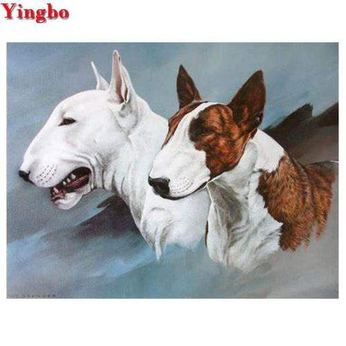 5D Diamond Painting Two Bull Terriers Kit