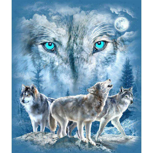 5D Diamond Painting Eyes of the Wolf Kit
