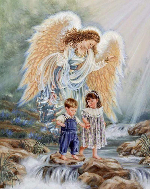 5D Diamond Painting Guardian Angel Kit
