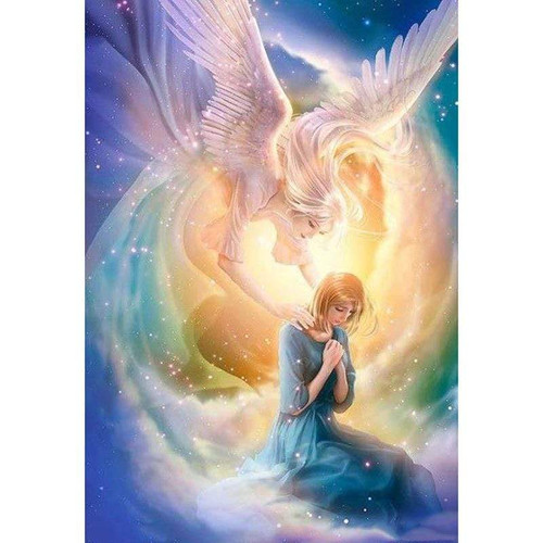 5D Diamond Painting Woman and Her Angel Kit