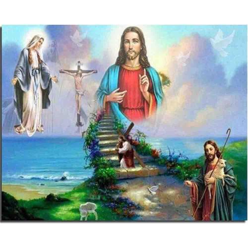 5D Diamond Painting Jesus' Life Stairway to Heaven Kit