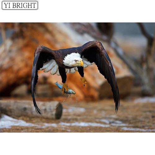 5D Diamond Painting Eagle Fishing Kit