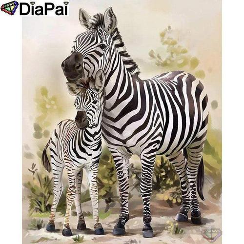 5D Diamond Baby and Mother Zebra Kit