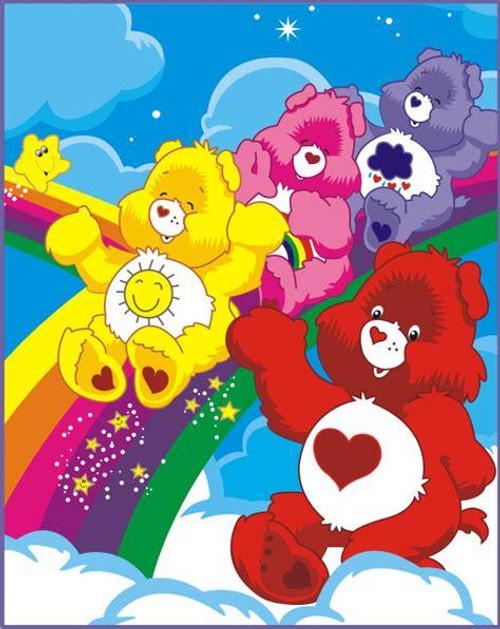 5D Diamond Painting Care Bears Rainbow Slide Kit