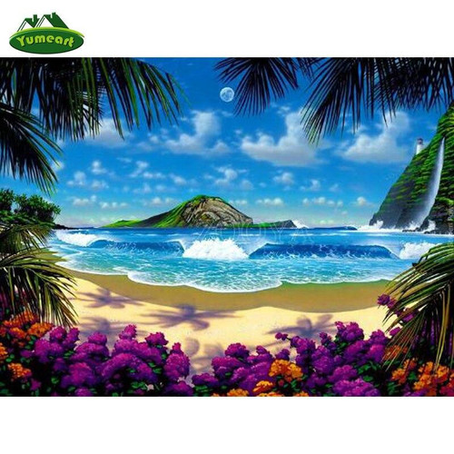 5D Diamond Painting Island Wave Kit