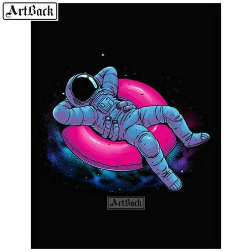 5D Diamond Painting Floating Astronaut Kit