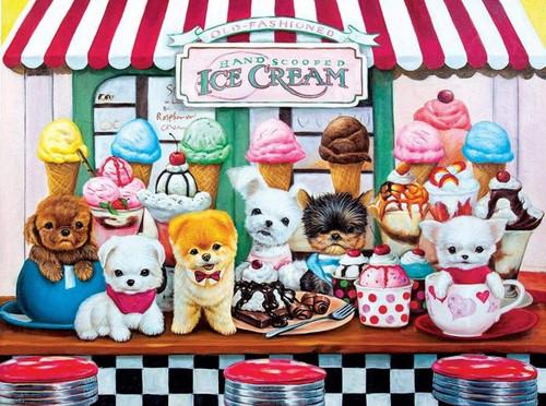 5D Diamond Painting Ice Cream Shop Puppies Kit