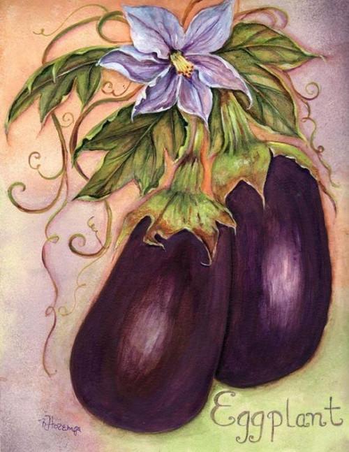 5D Diamond Painting Eggplant Kit