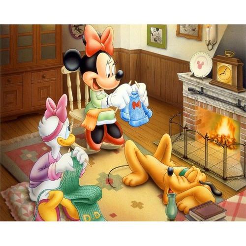 5D Diamond Painting Minnie & Daisy Knitting Kit
