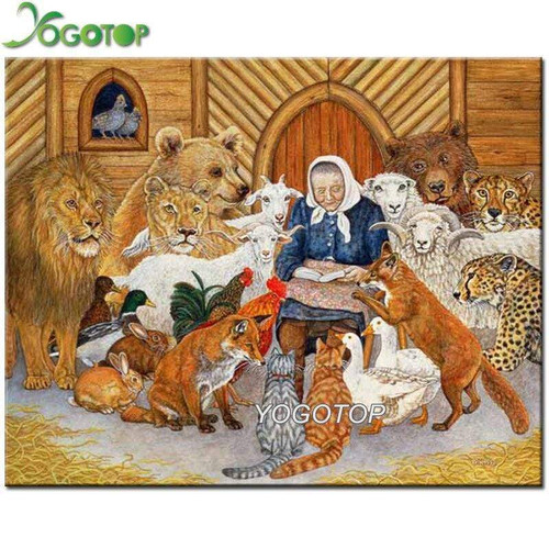 5D Diamond Painting Noah's Ark Storytime Kit