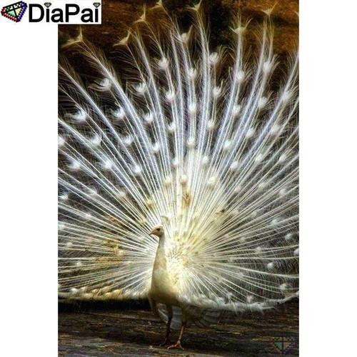 5D Diamond Painting White Peacock Kit