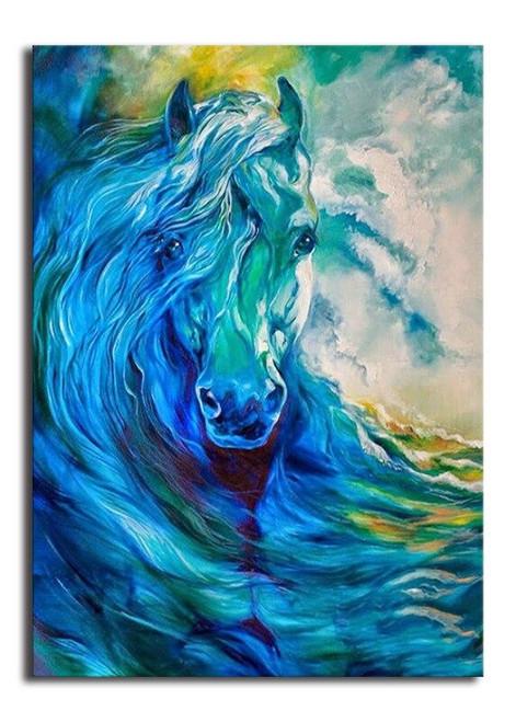 5D Diamond Painting Horse Wave Kit