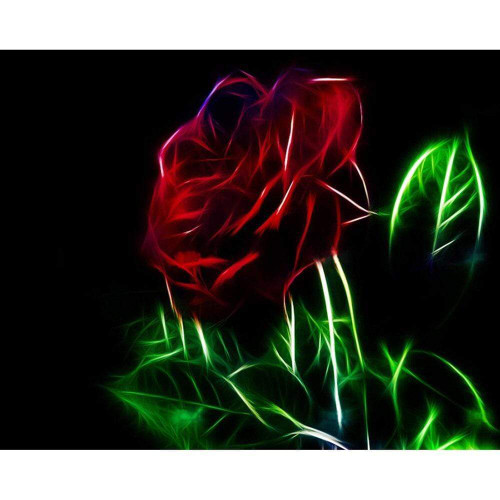 5D Diamond Painting Electric Rose Kit