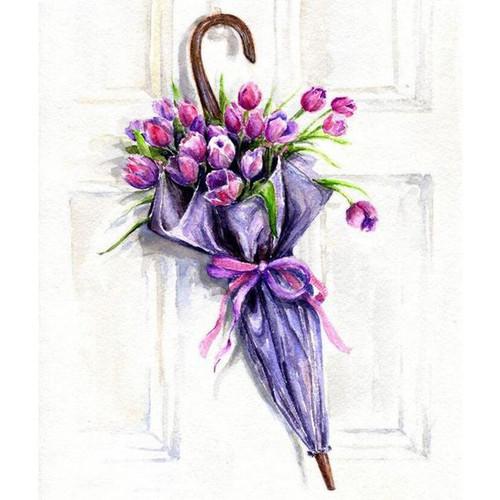 5D Diamond Painting Umbrella Tulip Bouquet Kit
