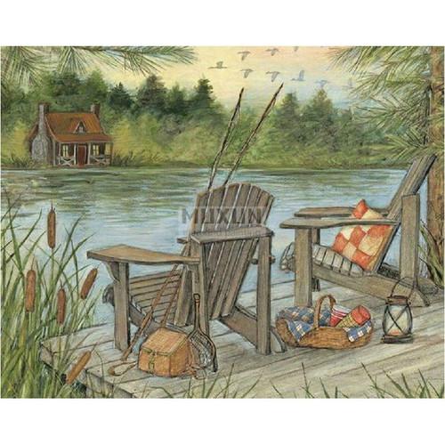 5D Diamond Painting Dock Fishing Kit