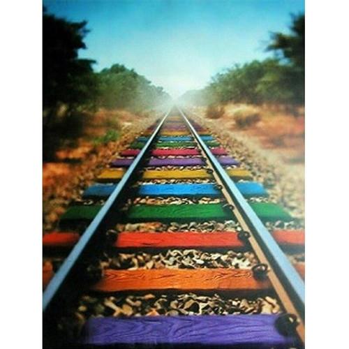 5D Diamond Painting Rainbow Rails Kit