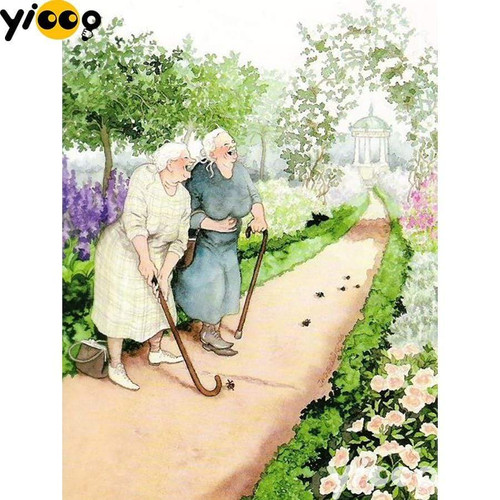 5D Diamond Painting Two Old Friends Kit