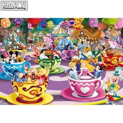 5D Diamond Painting Disney Teacups Kit
