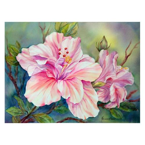 5D Diamond Painting Pink Tropical Flowers Kit