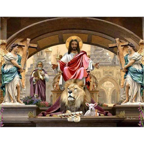 5D Diamond Painting Jesus the Lion and the Lamb Kit