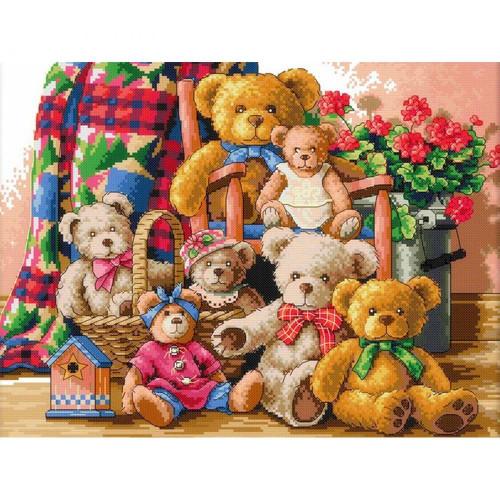 5D Diamond Painting Seven Teddy Bears Kit