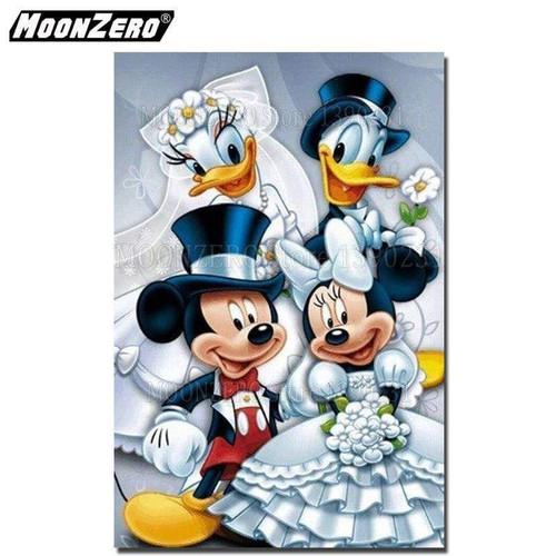 5D Diamond Painting Mickey & Donald Double Wedding Kit