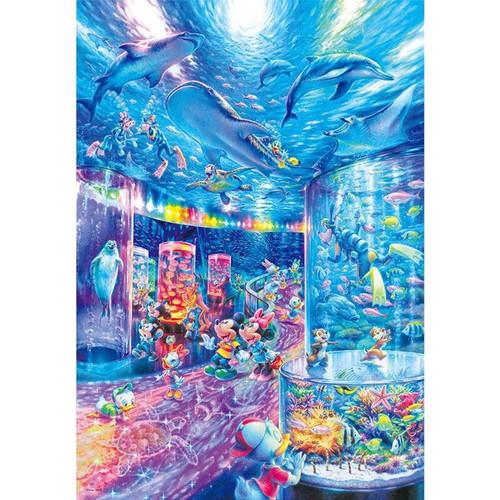 5D Diamond Painting Mickey and Minnie Aquarium Kit