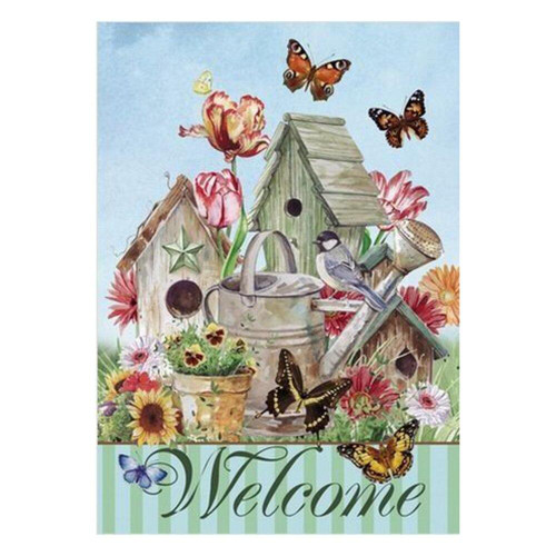 5D Diamond Painting Butterfly Birdhouse Welcome Kit