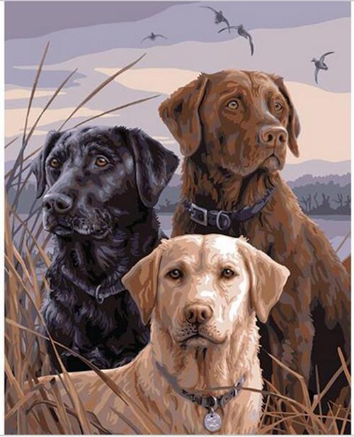 5D Diamond Painting Three Labradors Kit
