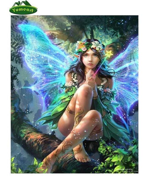5D Diamond Painting Glowing Wing Fairy Kit