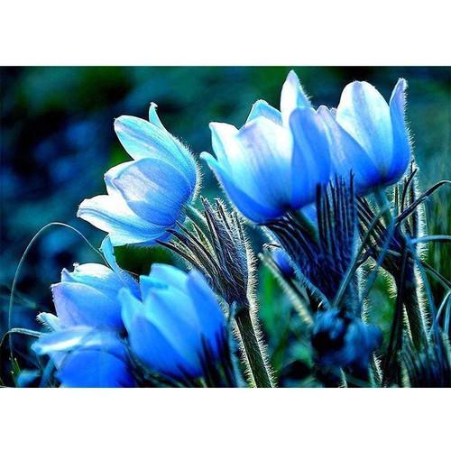 5D Diamond Painting Blue Tulips Kit