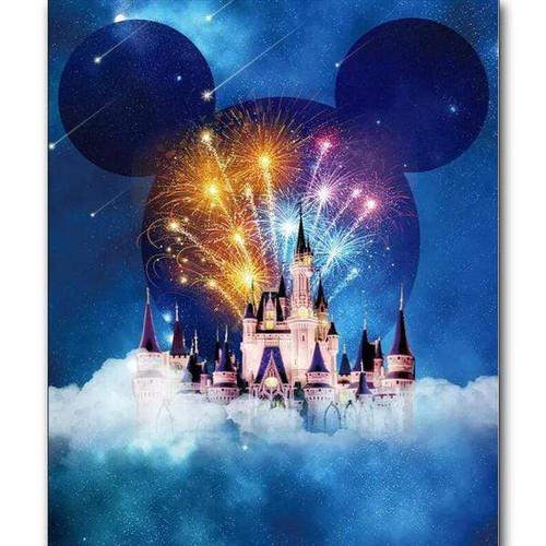 5D Diamond Painting Mickey Mouse Ears Castle Kit