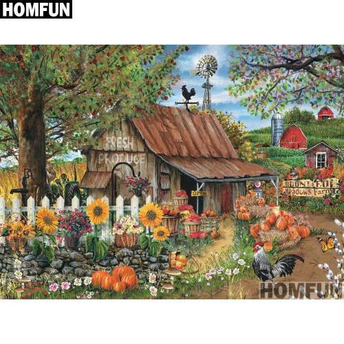5D Diamond Painting Fall Farm Kit