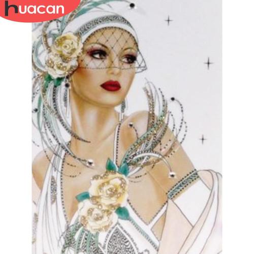 5D Diamond Painting White Dress Flapper Kit