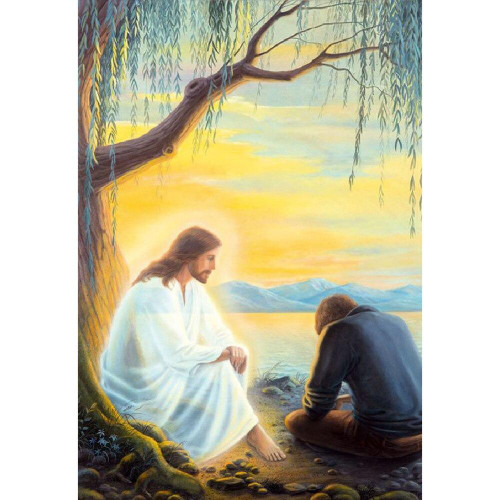 5D Diamond Painting Jesus at your Side Kit