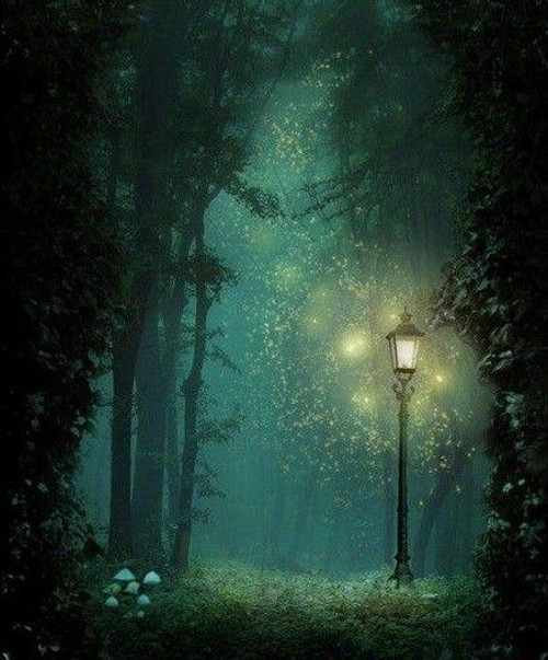 5D Diamond Painting Lamp in the Forest Kit